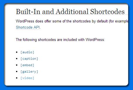 short-codes