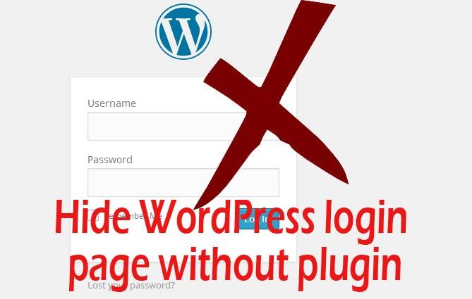 hide-login-page